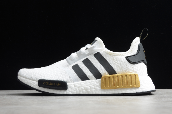 2020 Adidas Nmd R1 White Black Gold Eg5662 For Sale