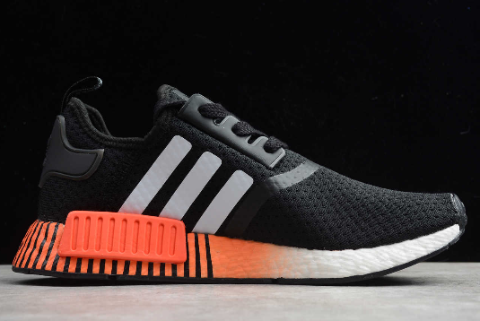 2020 Adidas Nmd R1 Black White Orange Fv3658 For Sale