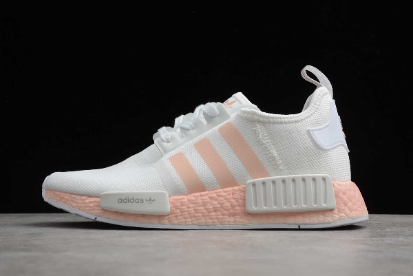 2020 Wmns adidas NMD R1 White/Pink FW7580 For Sale