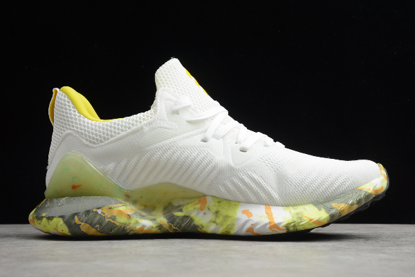 2020 adidas Alphabounce Beyond M White Yellow CG3306 For Sale 1