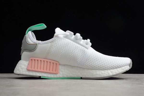 2020 adidas NMD R1 Cloud White Grey Two Clear Mint FX7197 For Sale 1