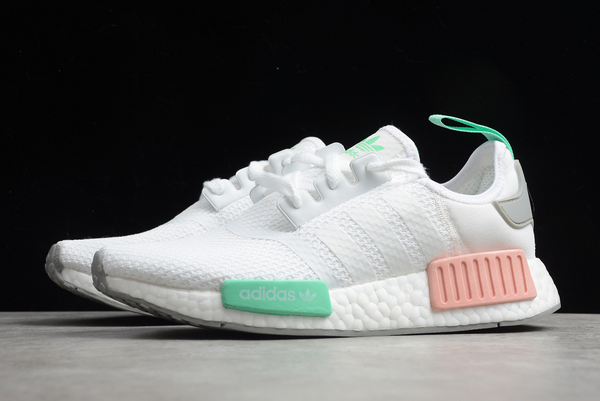 2020 adidas NMD R1 Cloud White/Grey Two-Clear Mint FX7197 For Sale