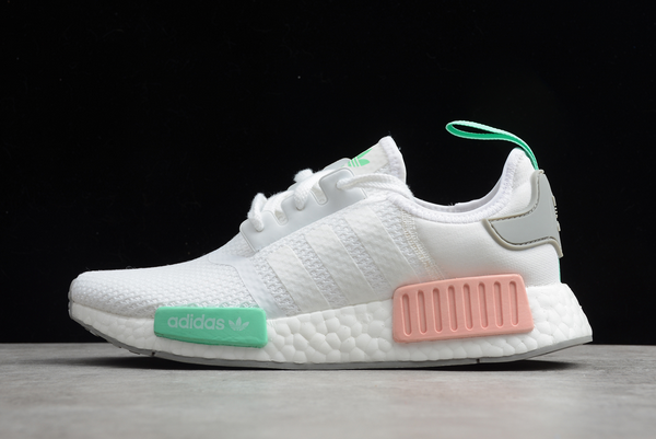 2020 adidas NMD R1 Cloud White Grey Two Clear Mint FX7197 For Sale