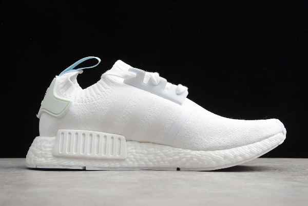 2020 adidas NMD R1 Primeknit Cloud White CQ2040 For Sale 1