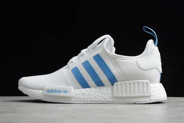 2020 adidas NMD R1 White/Blue D96689 For Sale