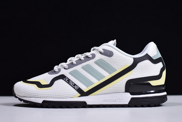 2020 adidas Original ZX 750 HD Cloud White Green Tint Black FV2875 For Sale