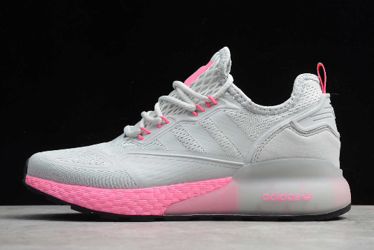 2020 WMNS adidas Originals ZX 2K Boost Grey/Pink FV8988 For Sale