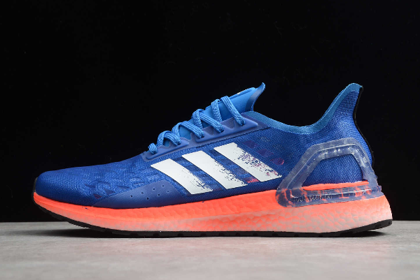 2020 adidas Ultraboost PB Glow Blue/Core White-Solar Red EF0893 For Sale