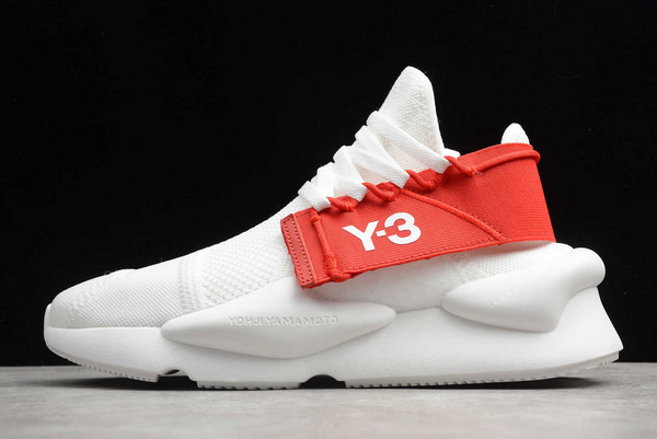 löparskor bäst billig närmare kl 2020 adidas Y-3 Kaiwa Knit Cloud White Red FV4562 For Sale