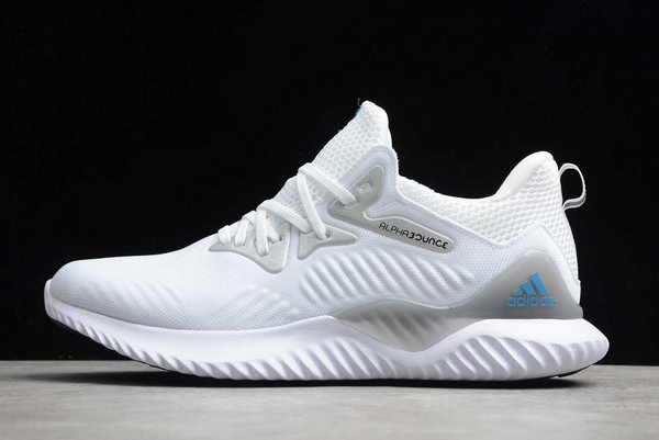 2020 adidas Alphabounce Beyond M White/Silver-Blue B89096 For Sale