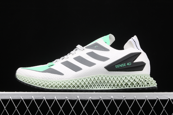 2020 adidas Alphaedge 4D LTD M White Wolf Grey Green FW7092 For Sale