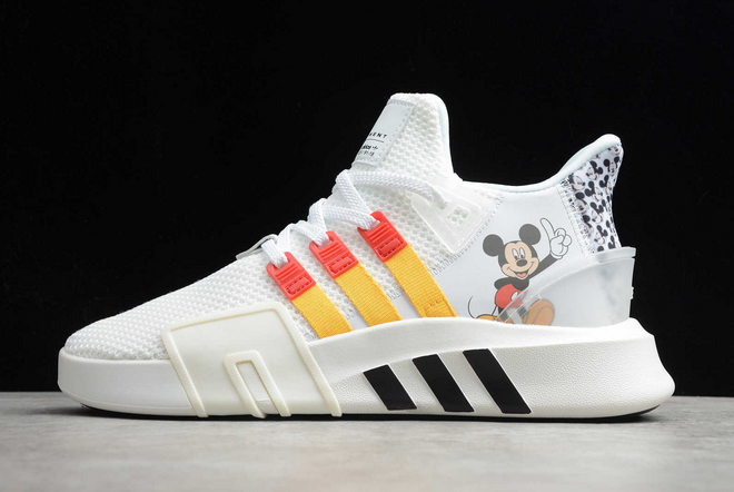 2020 adidas EQT Bask ADV Mickey White Red Yellow Black FW2020 For Sale