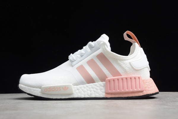 2020 Wmns adidas NMD R1 Primeknit White Pink FV2475 For Sale