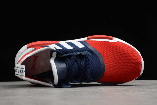 2020 adidas NMD R1 USA Collegiate Navy Scarlet Cloud White 1
