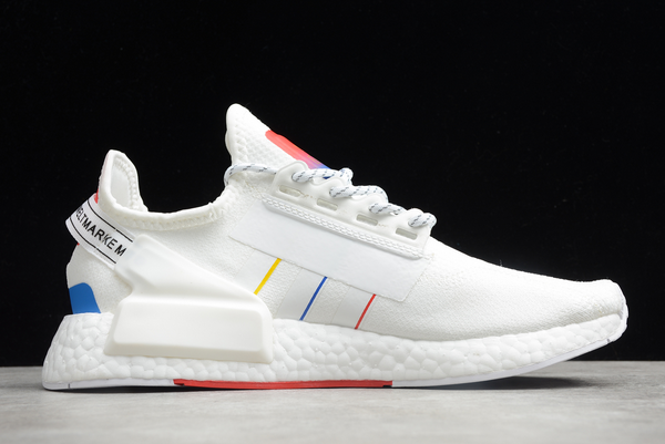 2020 adidas NMD R1 V2 RUNNER Primeknit White Multi Color FY1439 For Sale 1