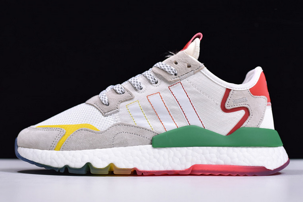 2020 adidas Nite Jogger Boost White Grey Red Green FY3235 For Sale
