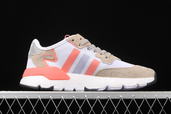2020 adidas Nite Jogger White Glory Pink FX7459 For Sale 1
