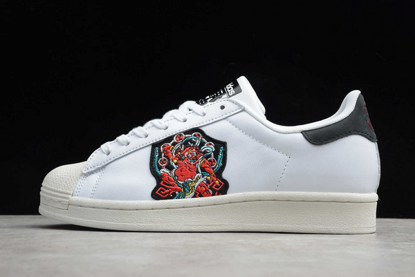 2020 adidas Superstar White Black Red FY6735 For Sale