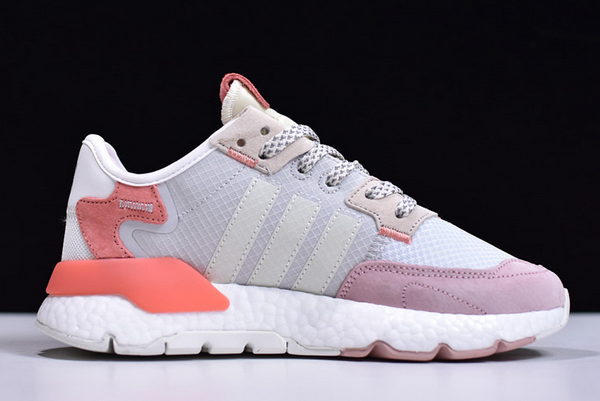 2020 adidas Wmns Nite Jogger Boost Grey Pink White FY3103 For Sale 1