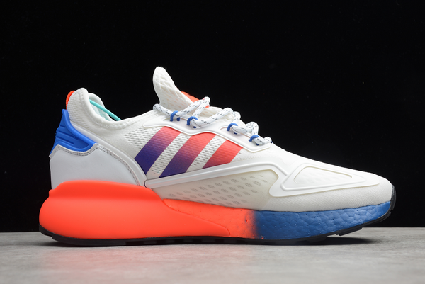 2020 adidas ZX 2K Boost Cloud White Solar Red Blue FX9519 For Sale 1