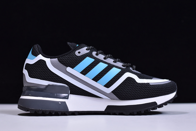2020 adidas ZX 750 HD Bright Cyan Black Bright Cyan Grey Three FV2874 For Sale 1