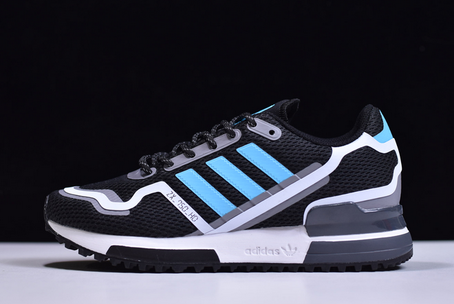 2020 adidas ZX 750 HD Bright Cyan Black Bright Cyan Grey Three FV2874 For Sale