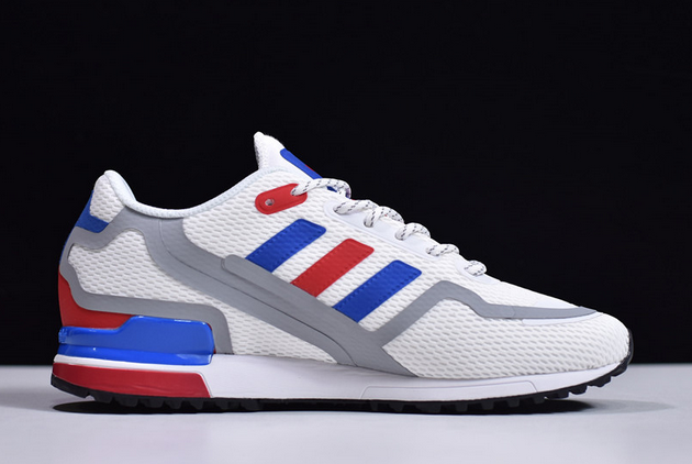 2020 adidas ZX 750 HD Cloud White Collegiate Royal Red FX7463 For Sale 1