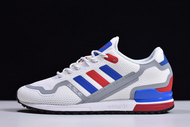 2020 adidas ZX 750 HD Cloud White Collegiate Royal Red FX7463 For Sale