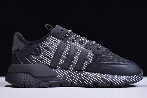 2020 adidas Nite Jogger Boost Black White EY1326 For Sale 1