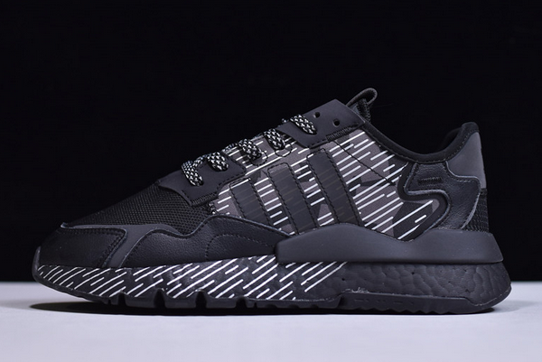2020 adidas Nite Jogger Boost Black White EY1326 For Sale