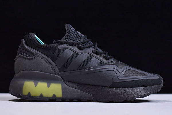 2020 adidas ZX 2K Boost Core Black Solar Yellow FV8453 For Sale 1