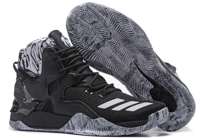 2020 adidas D Rose 7 Boost BHM Black White For Sale 1