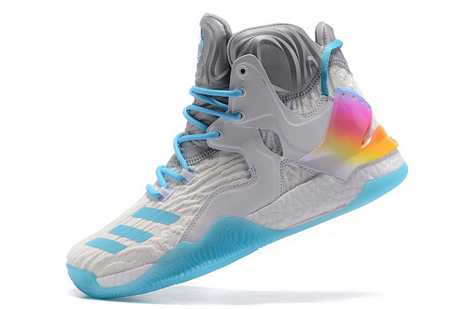 2020 adidas D Rose 7 Boost Christmas White Multi Color For Sale