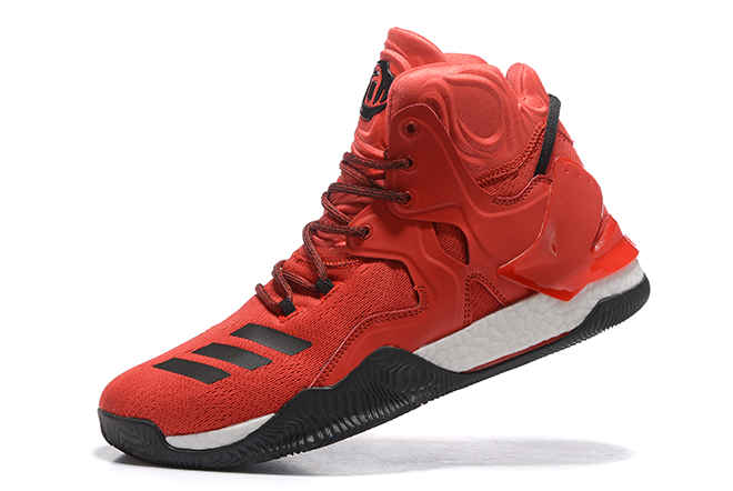 2020 adidas D Rose 7 Boost University Red Black White For Sale