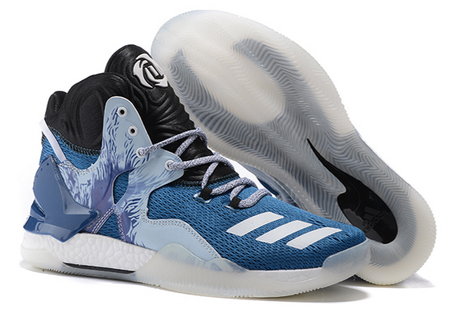 2020 adidas D Rose 7 Boost Varsity Royal Black Grey For Sale 1