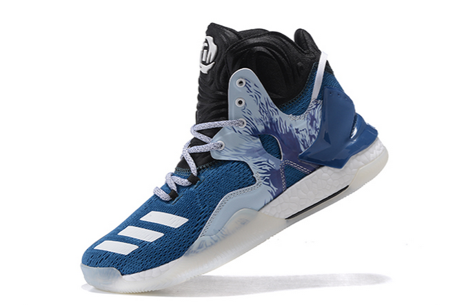 2020 adidas D Rose 7 Boost Varsity Royal Black Grey For Sale