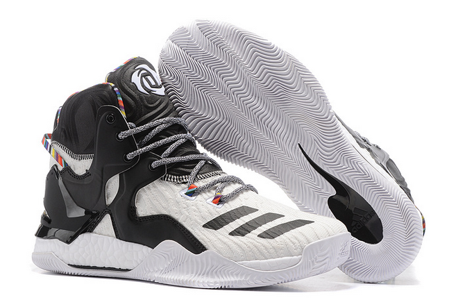 2020 adidas D Rose 7 Boost White Black Multi Color For Sale 1