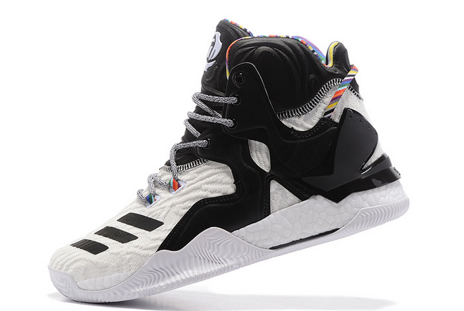 2020 adidas D Rose 7 Boost White Black Multi Color For Sale