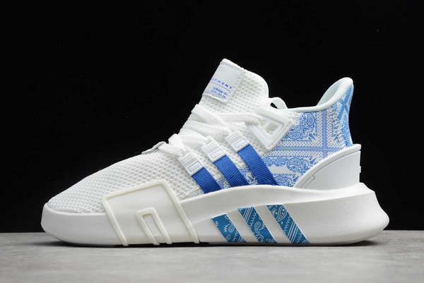 2020 adidas EQT Bask ADV White Blue Pattern FV4537 For Sale