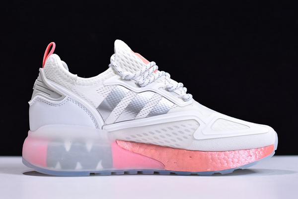 2020 adidas ZX 2K Boost White Silver Pink FY2013 For Sale 1 600x401