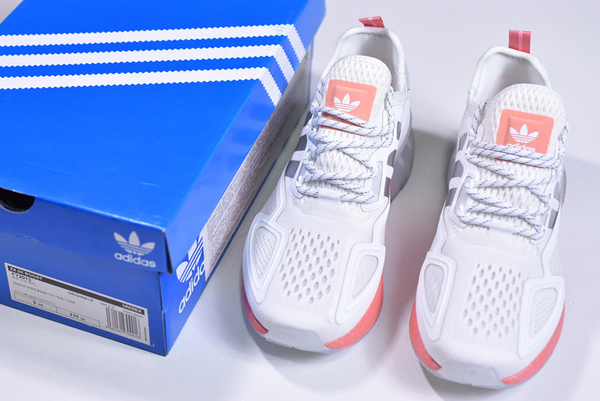 2020 adidas ZX 2K Boost White Silver Pink FY2013 For Sale 2 600x401