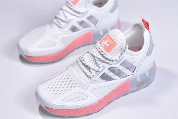 2020 adidas ZX 2K Boost White Silver Pink FY2013 For Sale 3 600x401