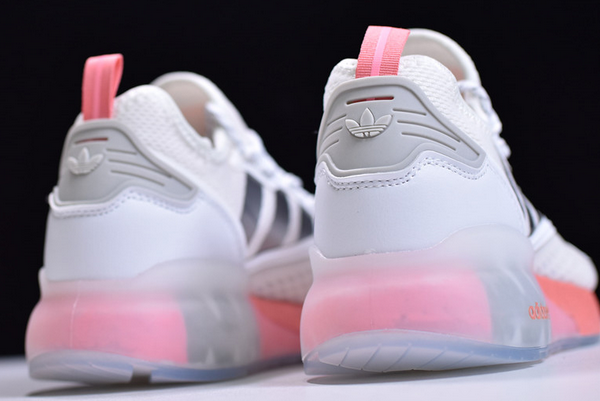 2020 adidas ZX 2K Boost White Silver Pink FY2013 For Sale 4 600x401