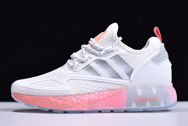 2020 adidas ZX 2K Boost White Silver Pink FY2013 For Sale 600x401