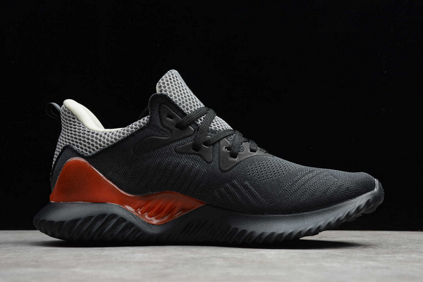 2020 adidas AlphaBounce Beyond M Black Wolf Grey Red B89091 For Sale 1