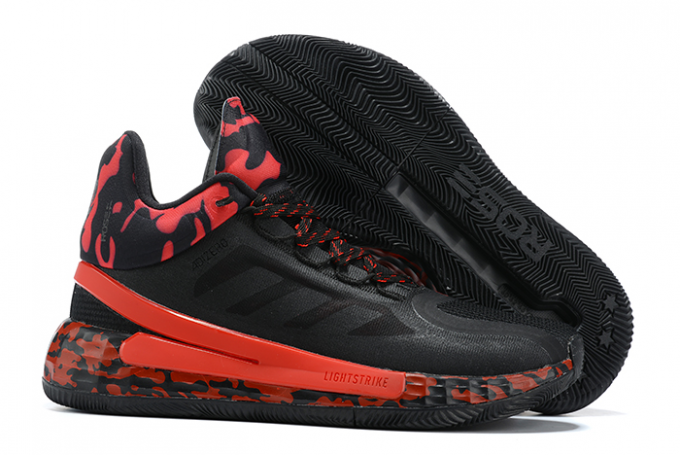 2020 adidas D Rose 11 Black University Red For Sale 1 680x455