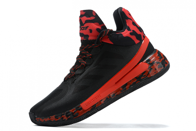 2020 adidas D Rose 11 Black University Red For Sale 680x455