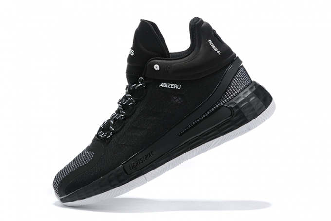 2020 adidas D Rose 11 Black White Shoes For Sale 680x455