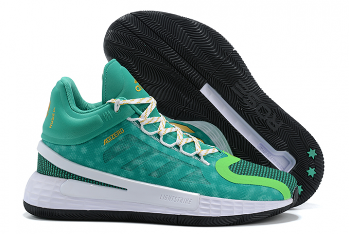 2020 adidas D Rose 11 Christmas Green Metallic Gold White For Sale 1 680x455
