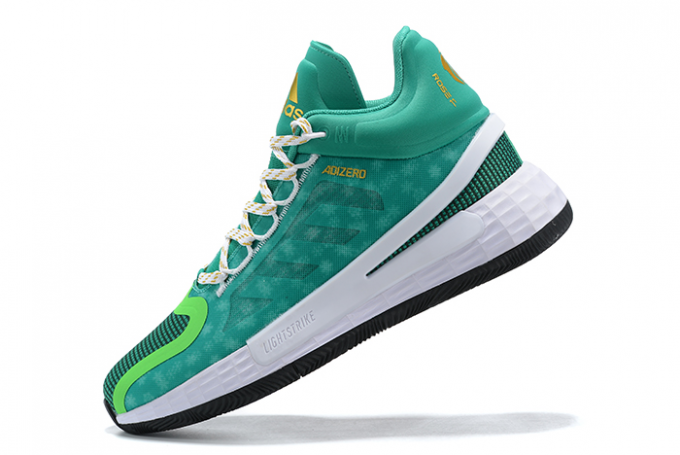 2020 adidas D Rose 11 Christmas Green Metallic Gold White For Sale 680x455